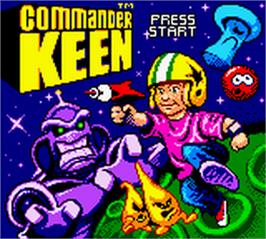 Title screen of Commander Keen on the Nintendo Game Boy Color.