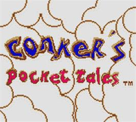 Title screen of Conker's Pocket Tales on the Nintendo Game Boy Color.
