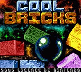 Title screen of Cool Bricks on the Nintendo Game Boy Color.