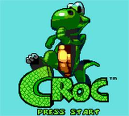 Title screen of Croc: Legend of the Gobbos on the Nintendo Game Boy Color.