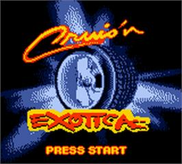 Title screen of Cruis'n Exotica on the Nintendo Game Boy Color.