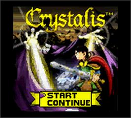 Title screen of Crystalis on the Nintendo Game Boy Color.