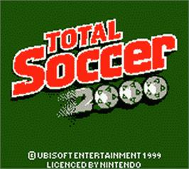Title screen of David O'Leary's Total Soccer 2000 on the Nintendo Game Boy Color.