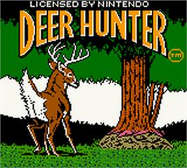 Title screen of Deer Hunter on the Nintendo Game Boy Color.