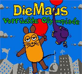 Title screen of Die Maus: Verrückte Olympiade on the Nintendo Game Boy Color.