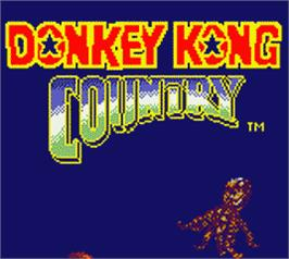 Title screen of Donkey Kong Country on the Nintendo Game Boy Color.