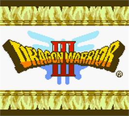 Title screen of Dragon Warrior 3 on the Nintendo Game Boy Color.