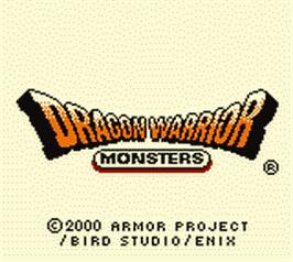 Title screen of Dragon Warrior Monsters on the Nintendo Game Boy Color.
