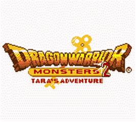 Title screen of Dragon Warrior Monsters 2: Tara's Adventure on the Nintendo Game Boy Color.