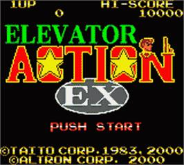 Title screen of Elevator Action on the Nintendo Game Boy Color.