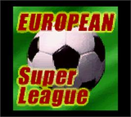 Title screen of European Super League on the Nintendo Game Boy Color.