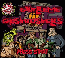 Title screen of Extreme Ghostbusters on the Nintendo Game Boy Color.
