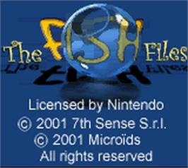 Title screen of Fish Files on the Nintendo Game Boy Color.