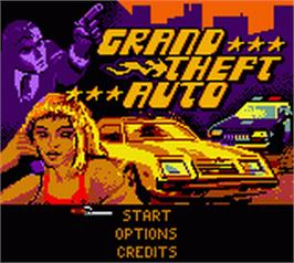 Title screen of Grand Theft Auto on the Nintendo Game Boy Color.