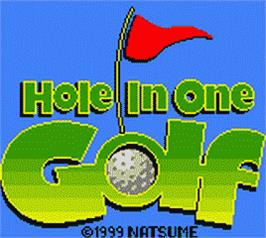 Title screen of Hole in One Golf on the Nintendo Game Boy Color.