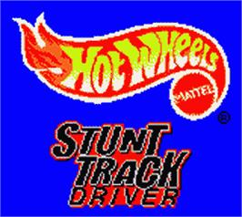 Title screen of Hot Wheels: Stunt Track Driver on the Nintendo Game Boy Color.