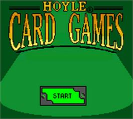 Title screen of Hoyle Card Games on the Nintendo Game Boy Color.