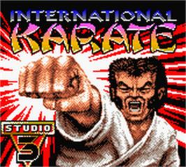 Title screen of International Karate 2000 on the Nintendo Game Boy Color.