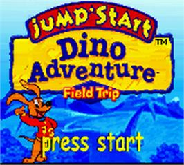 Title screen of Jump Start: Dino Adventure - Feild Trip on the Nintendo Game Boy Color.