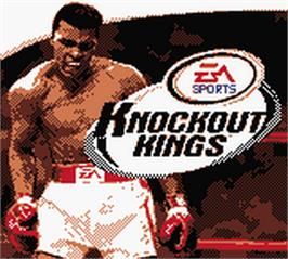 Title screen of Knockout Kings 2000 on the Nintendo Game Boy Color.