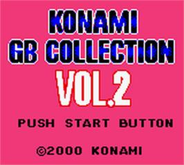 Title screen of Konami GB Collection Vol. 2 on the Nintendo Game Boy Color.