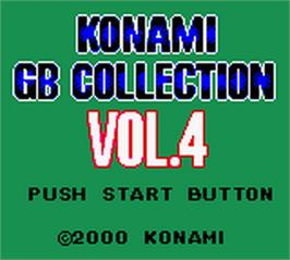 Title screen of Konami GB Collection Vol. 4 on the Nintendo Game Boy Color.