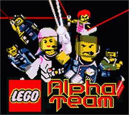 Title screen of LEGO Alpha Team on the Nintendo Game Boy Color.