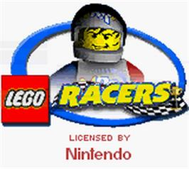 Title screen of LEGO Racers on the Nintendo Game Boy Color.