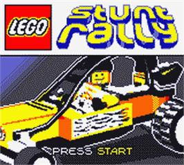 Title screen of LEGO Stunt Rally on the Nintendo Game Boy Color.