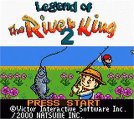 Title screen of Legend of the River King 2 on the Nintendo Game Boy Color.