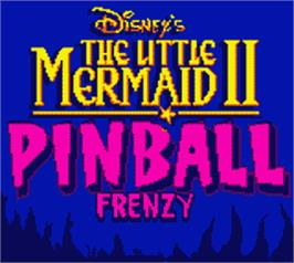 Title screen of Little Mermaid 2 on the Nintendo Game Boy Color.