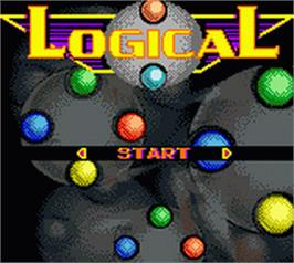 Title screen of Logical on the Nintendo Game Boy Color.