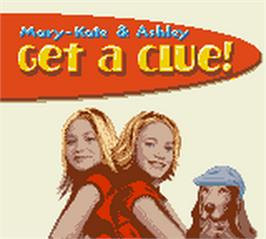 Title screen of Mary-Kate and Ashley: Get a Clue on the Nintendo Game Boy Color.