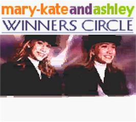 Title screen of Mary-Kate and Ashley: Winner's Circle on the Nintendo Game Boy Color.