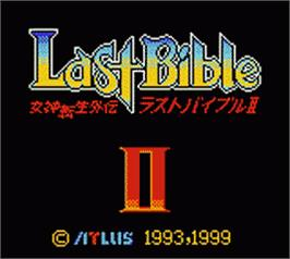 Title screen of Megami Tensei Gaiden: Last Bible 2 on the Nintendo Game Boy Color.