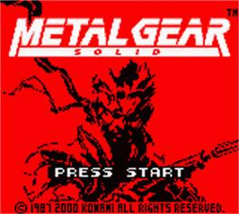 Title screen of Metal Gear Solid on the Nintendo Game Boy Color.