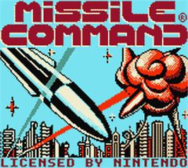Title screen of Missile Command on the Nintendo Game Boy Color.