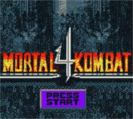 Title screen of Mortal Kombat 4 on the Nintendo Game Boy Color.