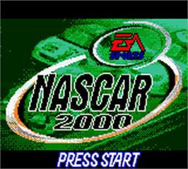 Title screen of NASCAR 2000 on the Nintendo Game Boy Color.