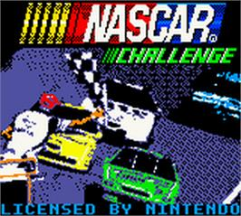 Title screen of NASCAR Challenge on the Nintendo Game Boy Color.