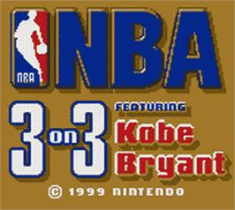 Title screen of NBA 3 on 3 Featuring Kobe Bryant on the Nintendo Game Boy Color.