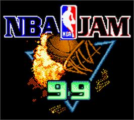 Title screen of NBA Jam 99 on the Nintendo Game Boy Color.