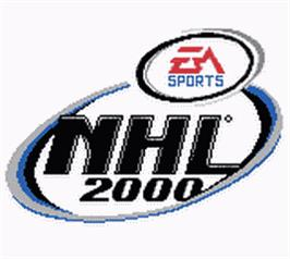 Title screen of NHL 2000 on the Nintendo Game Boy Color.