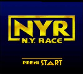 Title screen of New York Race on the Nintendo Game Boy Color.