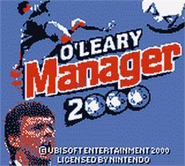 Title screen of O'Leary Manager 2000 on the Nintendo Game Boy Color.