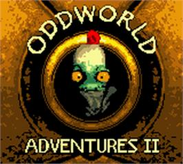 Title screen of Oddworld: Adventures 2 on the Nintendo Game Boy Color.