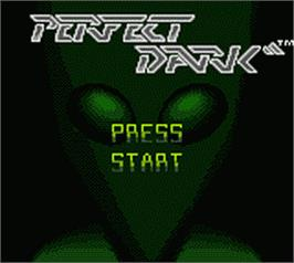 Title screen of Perfect Dark on the Nintendo Game Boy Color.