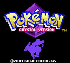 Title screen of Pokemon: Crystal Version on the Nintendo Game Boy Color.