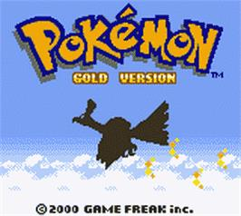 Title screen of Pokemon: Gold Version on the Nintendo Game Boy Color.