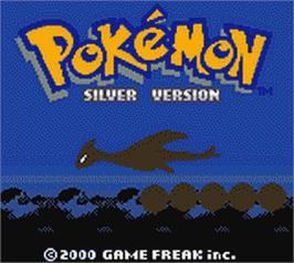 Title screen of Pokemon: Silver Version on the Nintendo Game Boy Color.